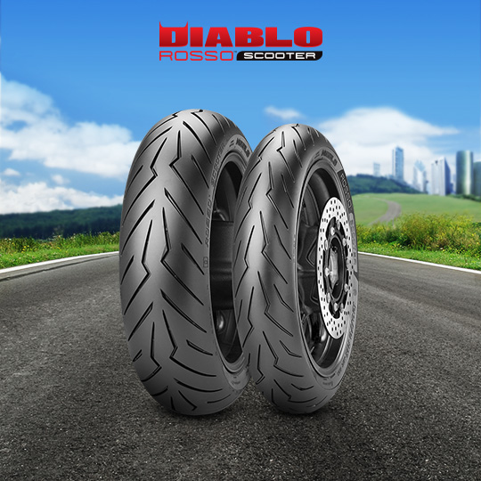 DIABLO ROSSO SCOOTER tire for KAWASAKI J 300  (all versions) C4 (> 2014) motorbike