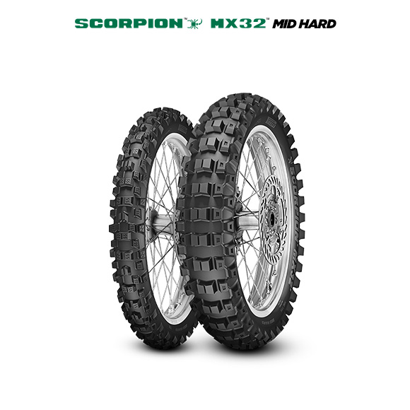 SCORPION MX32 MID HARD tire for KAWASAKI KX 250 KX 250 L1 (> 1999) motorbike