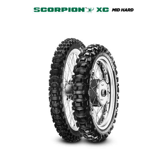 SCORPION XC MID HARD motorbike tire for track