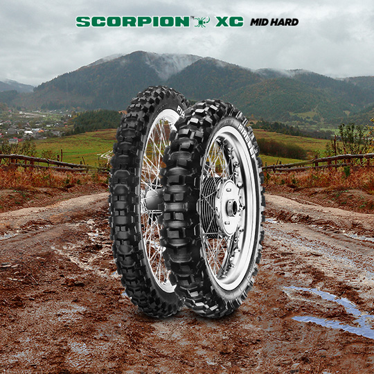 SCORPION XC MID HARD tire for HONDA CR 125 RP; RR JE 01 motorbike