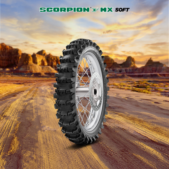 SCORPION MX SOFT motorbike tire for track