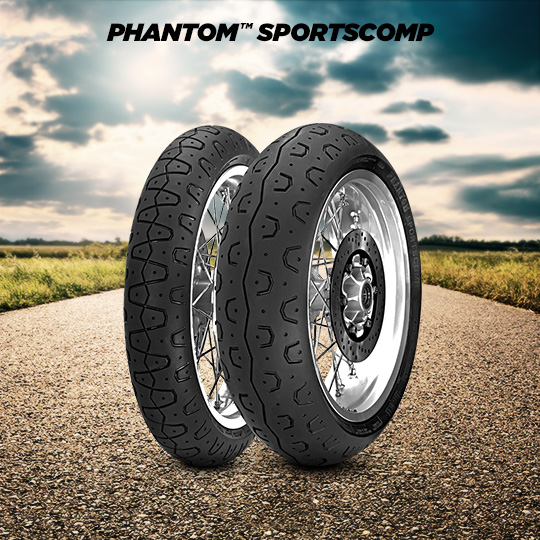 PHANTOM SPORTSCOMP tire for YAMAHA XSR700; XSR700X Tribute RM11; RM12 (2015-2020) motorbike