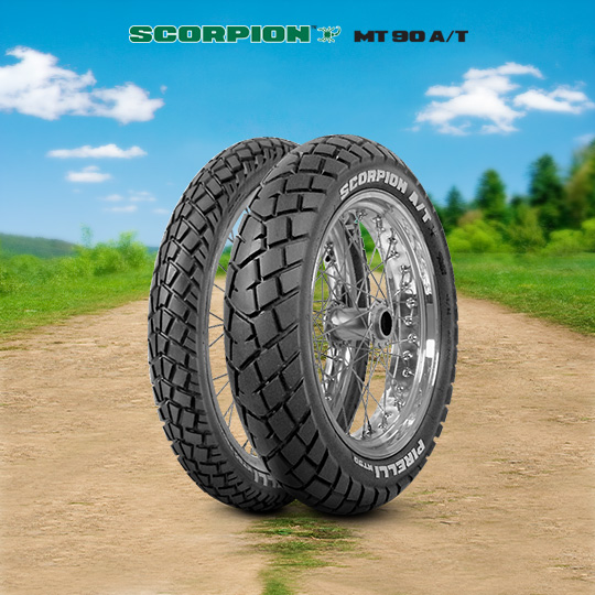 MT 90 A/T SCORPION tire for YAMAHA WR 125 R DE 07 (> 2009) motorbike
