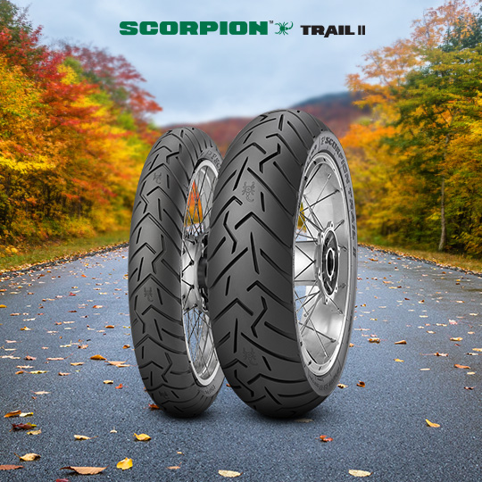 SCORPION TRAIL II tire for KAWASAKI ZXR 750 R ZX 750 L  Vers. M (> 1993) motorbike