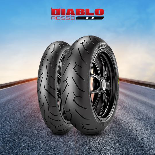 DIABLO ROSSO II tire for YAMAHA XJR 1300  (all versions) RP 19 (> 2007) motorbike