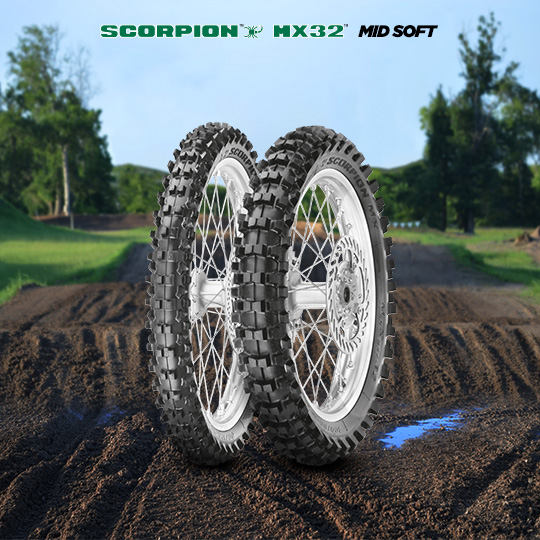 SCORPION MX32 MID SOFT motorbike tire for track