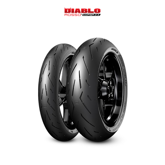 DIABLO ROSSO CORSA II tire for YAMAHA MT-07; ABS  (all versions) RM 04 (> 2014) motorbike