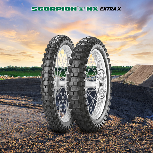 SCORPION MX EXTRA X tire for HONDA CR 125 RP; RR JE 01 motorbike