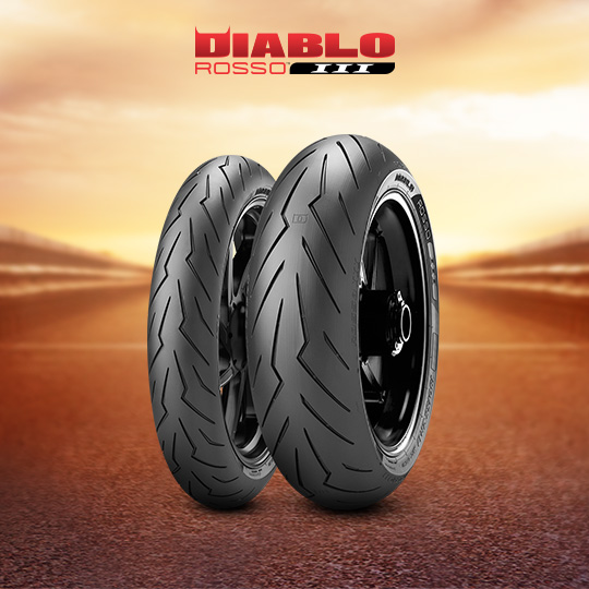 DIABLO ROSSO III tire for YAMAHA XJR 1300  (all versions) RP 19 (> 2007) motorbike
