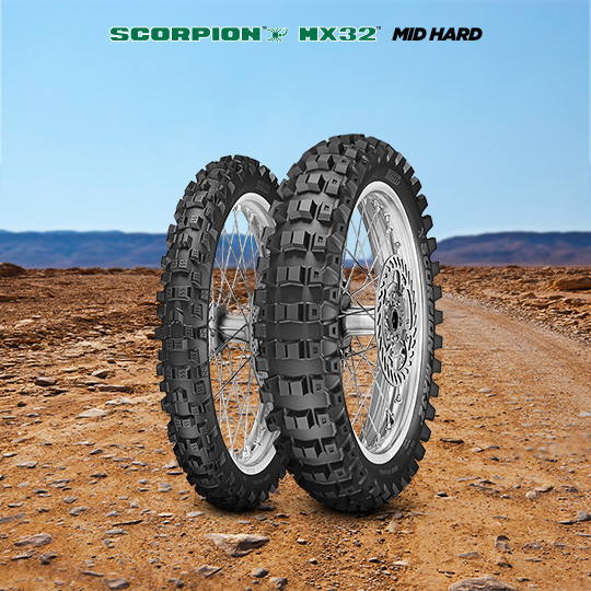SCORPION MX32 MID HARD tire for KAWASAKI KX 125 KX 125 L1 (> 1999) motorbike