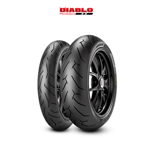 DIABLO ROSSO II tyre for DUCATI Monster S4R; Rs M4 / 17 (> 2006) motorbike