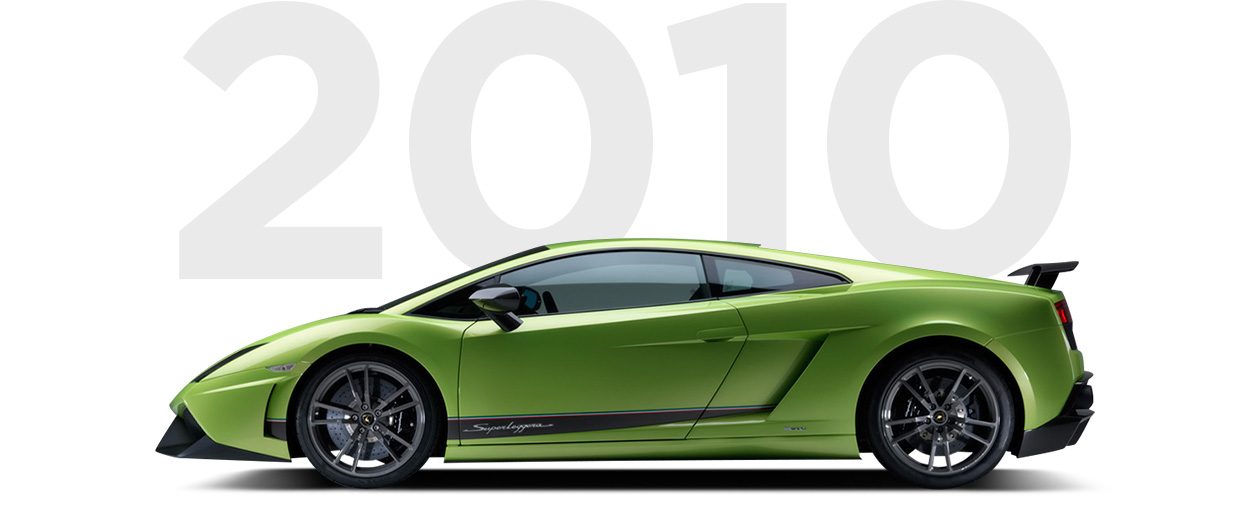 Pirelli & Lamborghini through history 2010