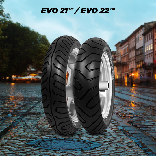 EVO 21 / EVO 22 motorbike tyre for scooter