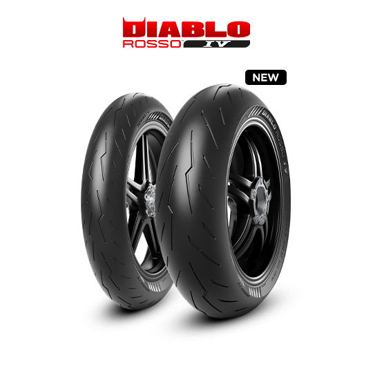 DIABLO ROSSO IV tyre for DUCATI Monster S4R; Rs M4 / 17 (> 2006) motorbike