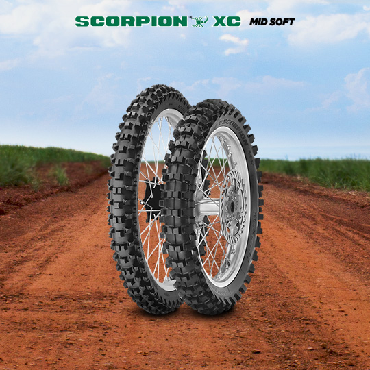 SCORPION XC MID SOFT motorbike tyre for track