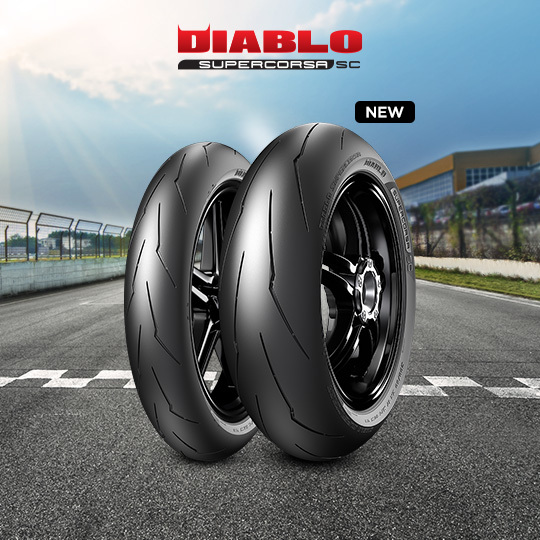 DIABLO SUPERCORSA V3 708 motorbike tire for track