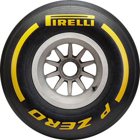 Soft Yellow F1 car tyre