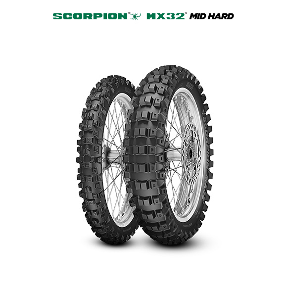 SCORPION MX32 MID HARD motorbike tyre for track