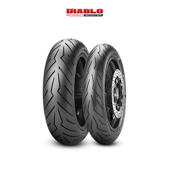 DIABLO ROSSO SCOOTER tyre for SUZUKI AN 650 A Burgman (all versions) WVBU (> 2004) motorbike