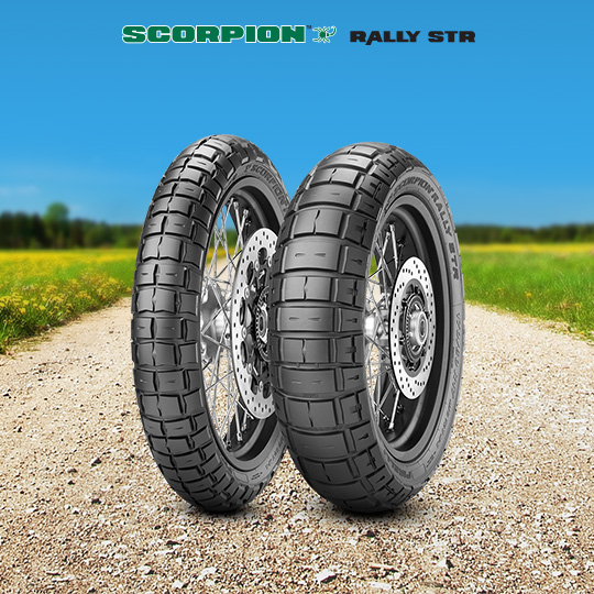 SCORPION RALLY STR tyre for SUZUKI XF 650 U Freewind 25 kw AC  Vers. C; D (> 1997) motorbike