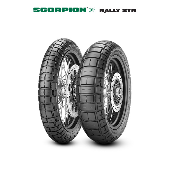 Pneu SCORPION RALLY STR pour moto TRIUMPH Tiger 900 T 400 A430.431 (1993>1998)