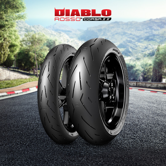 DIABLO ROSSO CORSA II tyre for DUCATI Monster 821; Dark (35 KW) (all versions) M7 / 01 (2014-2016) motorbike