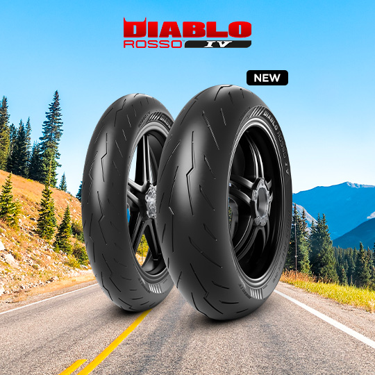 DIABLO ROSSO IV tire for HONDA VFR 800; ABS RC 46 (> 2002) motorbike