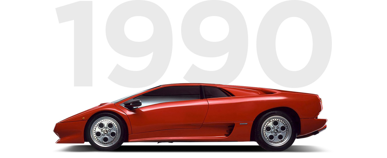 Pirelli & Lamborghini through history 1990