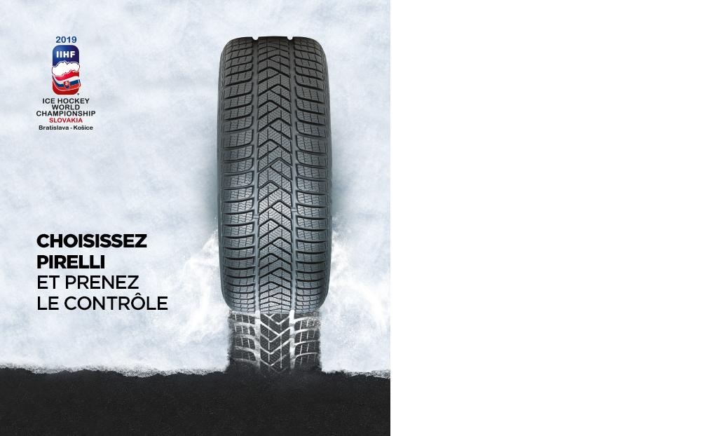 Choisissez Pirelli et  prenez le contrôle