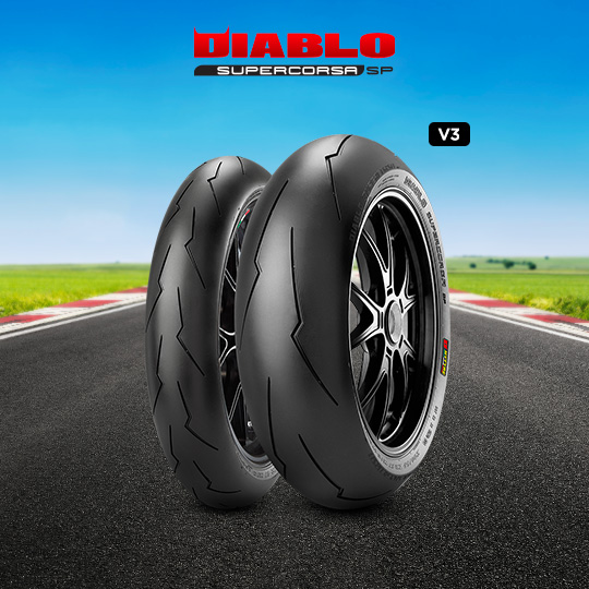 DIABLO SUPERCORSA V3 707 tire for HONDA VFR 800; ABS RC 46 (> 2002) motorbike