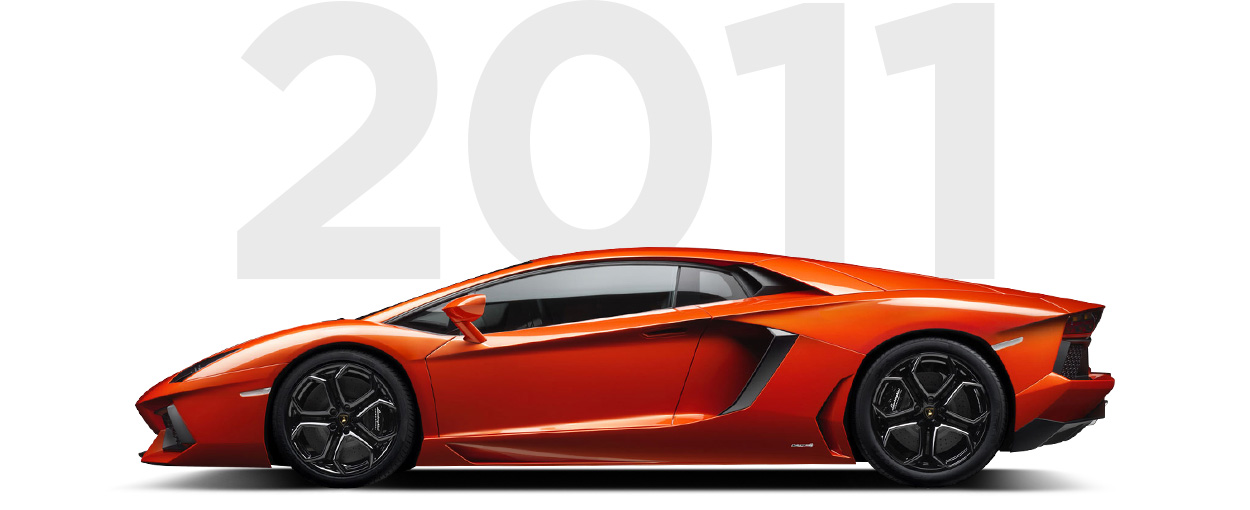 Pirelli & Lamborghini through history 2011