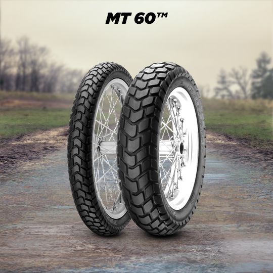 MT 60 tyre for BMW R 80 GS  (TL - rims)  MY  (> 1988) motorbike