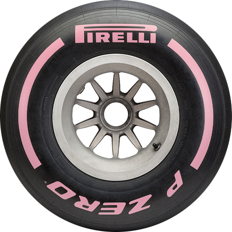 Hypersoft Pink F1 car tyre