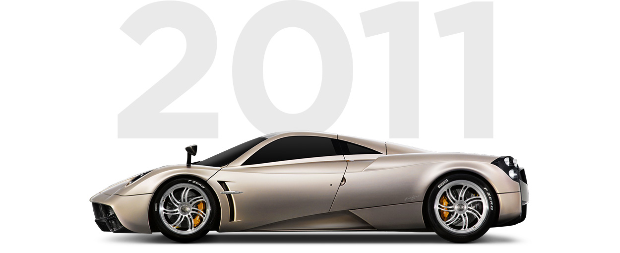 Pirelli & Pagani through history 2011