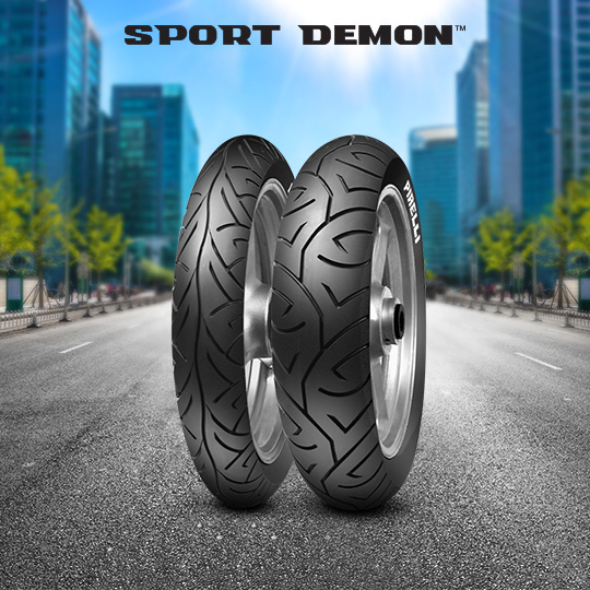 SPORT DEMON tyre for YAMAHA TDR 125 5 AN; DE 04 (> 1997) motorbike