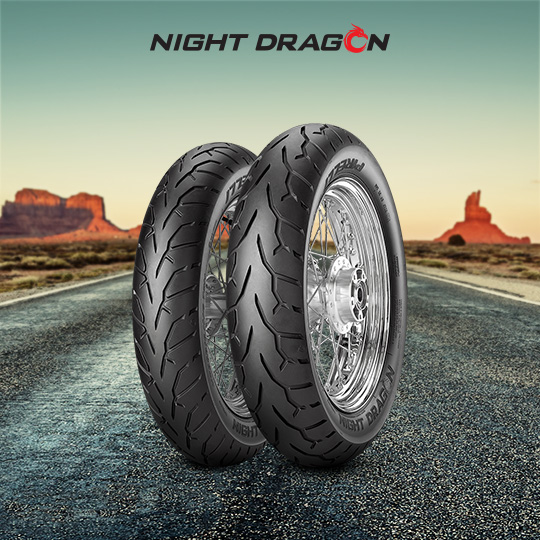 NIGHT DRAGON tyre for HARLEY DAVIDSON FLSTNI Softail Deluxe EFI FS 2 (> 2005) motorbike