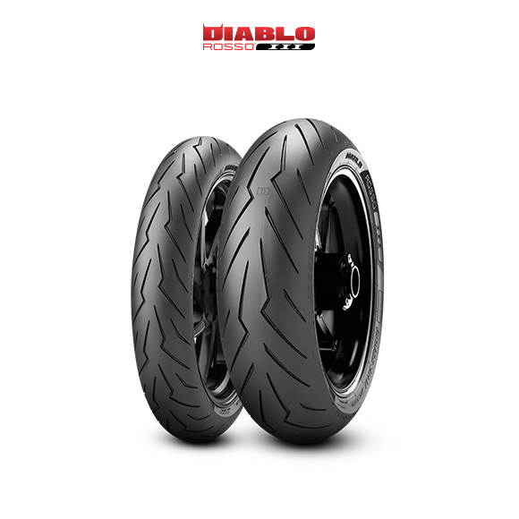 DIABLO ROSSO III tyre for DUCATI Monster S4R; Rs M4 / 17 (> 2006) motorbike