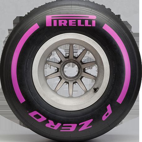 Ultrasoft Purple F1 car tyre