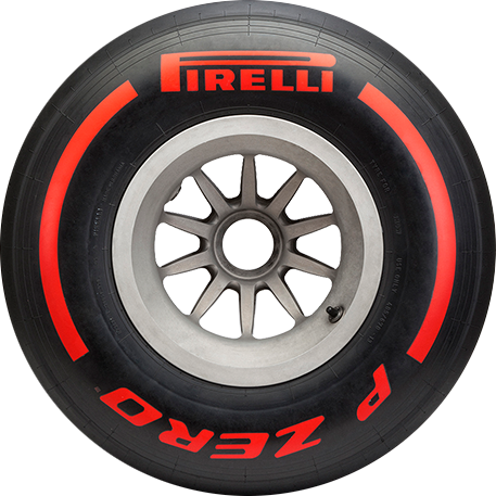 Supersoft Red F1 car tyre