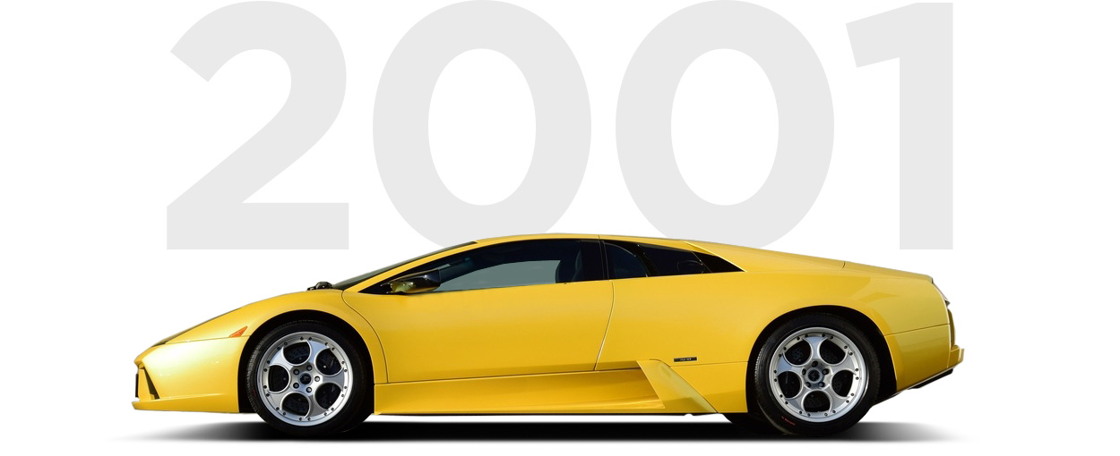 Pirelli & Lamborghini through history 2001