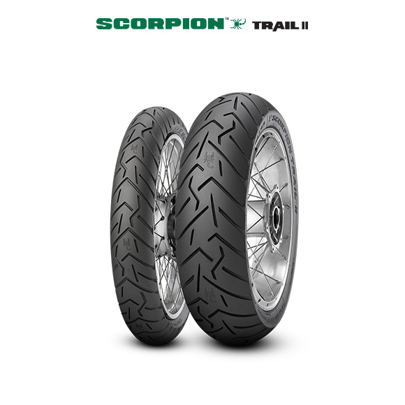SCORPION TRAIL II tyre for YAMAHA TDR 125 5 AN; DE 04 (> 1997) motorbike