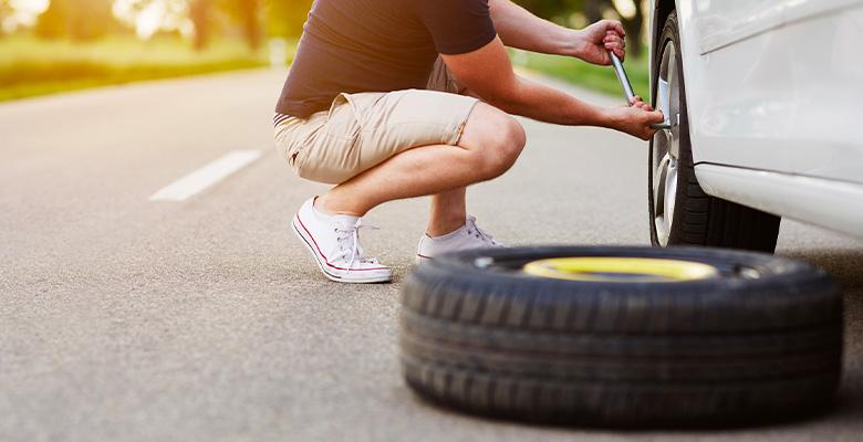 thumb flat tire