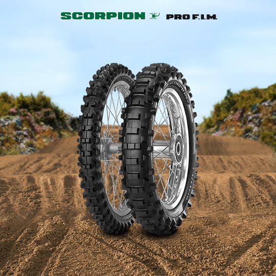 SCORPION PRO motorbike tyre for track