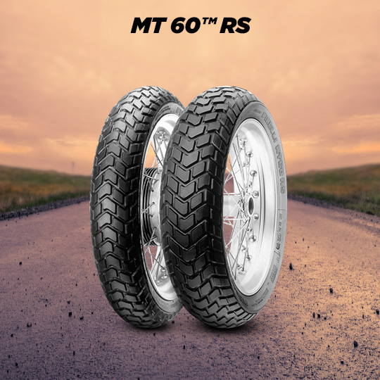 MT60 RS motorbike tyre for on / off road